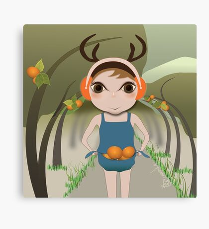 Deery Fairy and Oranges Canvas Print