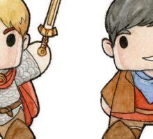 Merlin and Arthur Biddys.  Sticker