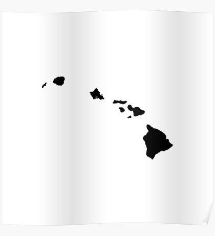 Hawaii Black Poster