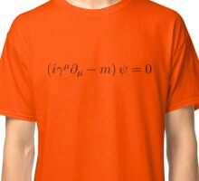Dirac Equation - Black Classic T-Shirt