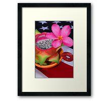Dragon Fruit Dessert Framed Print
