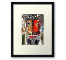 red warrior Framed Print