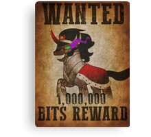 Wanted: King Sombra Canvas Print