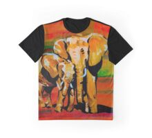 Bright mother and baby elephant Graphic T-Shirt