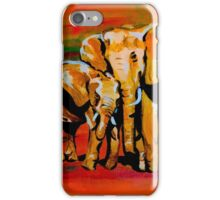 Bright mother and baby elephant iPhone Case/Skin