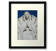 Praying Madonna Framed Print