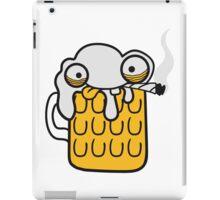 comic cartoon gesicht lustig durst logo bier krug saufen trinken party feiern spaßtrinken alkohol symbol cool shirt oktoberfest  iPad Case/Skin