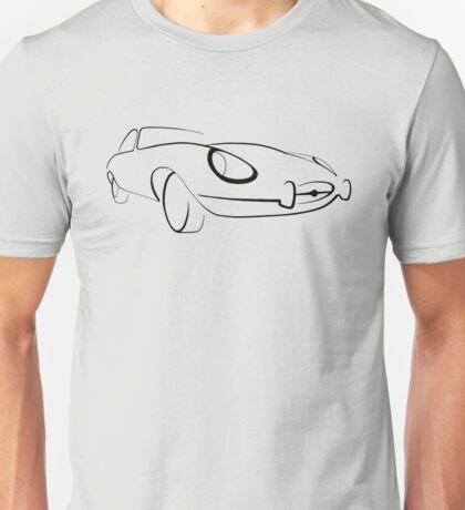 Jaguar E-Type graphic (Black) Unisex T-Shirt