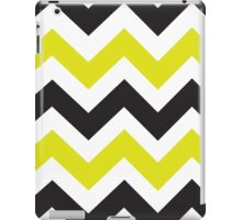 Zig Zag iPad - Chartreuse & Black iPad Case/Skin