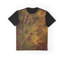 Gold and Red Tree Branch Abstract Graphic T-Shirt