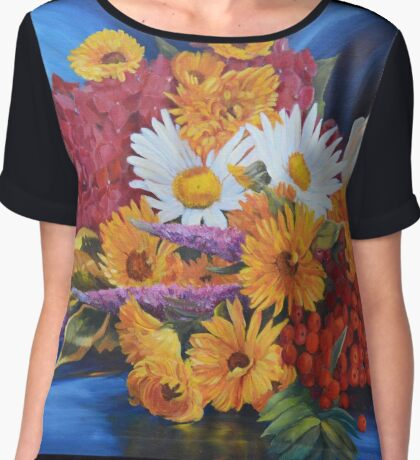 With a kiss from the sun Women's Chiffon Top