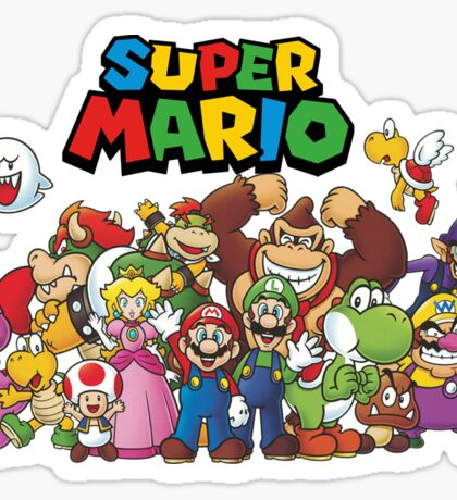 super mario all characters Sticker