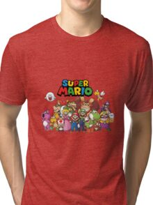 super mario all characters Tri-blend T-Shirt