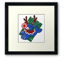 Water Reindeer Framed Print