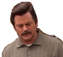 "Ron Swanson ""Its fine"" Sticker"