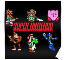 super nintendo video game Poster