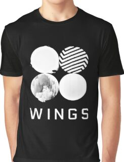 BTS Wings Logo (Black) Graphic T-Shirt