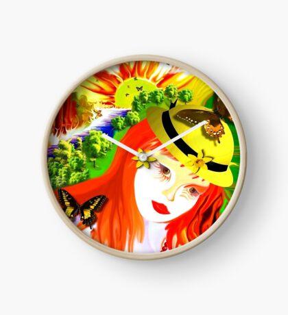 **Natural Girl*** Clock