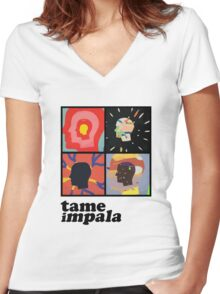 TAME IMPALA - HEADS Women's Fitted V-Neck T-Shirt