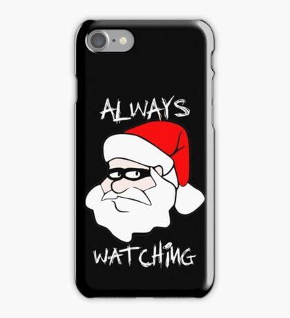 ALWAYS WATCHING Creepy Santa Claus iPhone Case/Skin