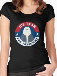 ICE BEAR FOR PRESIDENT Women's Fitted Scoop T-Shirt