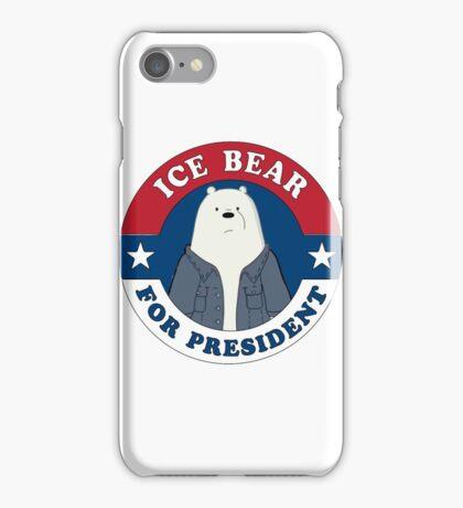 ICE BEAR FOR PRESIDENT iPhone Case/Skin