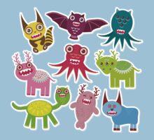 Cartoon monsters Baby Tee