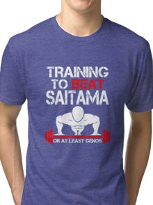 Training to Beat Saitama Tri-blend T-Shirt