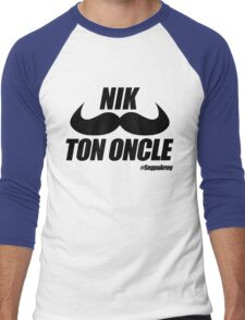 Nik Ton Oncle Version Noire - Segpa Army Men's Baseball ¾ T-Shirt