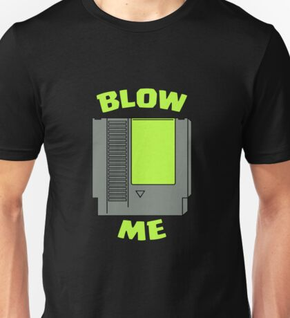 Blow Me Nintendo Green Unisex T-Shirt