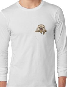 POCKET SLOTH Long Sleeve T-Shirt