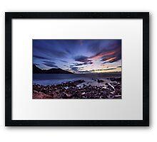 Sunset from Freycinet Framed Print