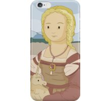 Lady with unicorn by Raphael iPhone Case/Skin