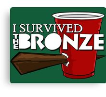 I Survived the Bronze Canvas Print