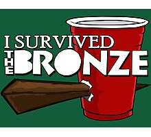 I Survived the Bronze Photographic Print