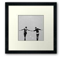 Max & Chloe - black and white Framed Print