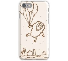 Funny sheep with balloons iPhone Case/Skin