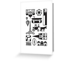 Icons of Melbourne Greeting Card