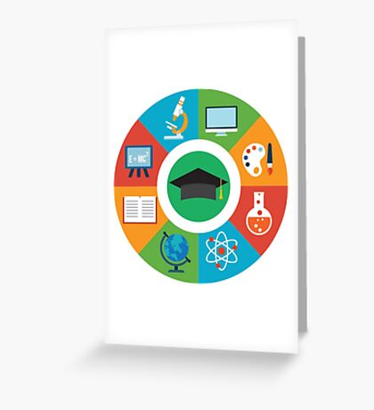 Education Infographic Greeting Card