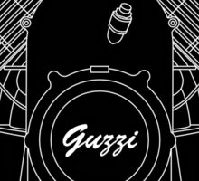 Moto Guzzi Motor Sticker