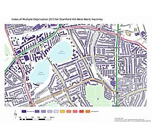 Multiple Deprivation Stamford Hill West ward, Hackney Photographic Print