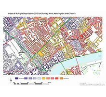 Multiple Deprivation Stanley ward, Kensington & Chelsea Photographic Print