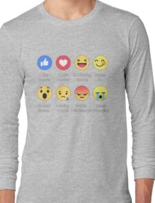 I LOVE SOCCER EMOTION T-SHIRT Long Sleeve T-Shirt
