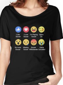 I LOVE SOCCER EMOTION T-SHIRT Women's Relaxed Fit T-Shirt