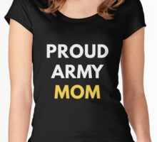 Proud Army Mom Women's Fitted Scoop T-Shirt