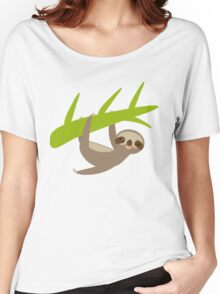Winking sloth an a bench Women's Relaxed Fit T-Shirt