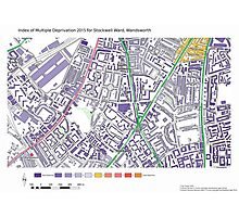 Multiple Deprivation Stockwell ward, Wandsworth Photographic Print