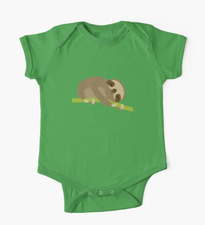 Sloth on a bench One Piece - Short Sleeve