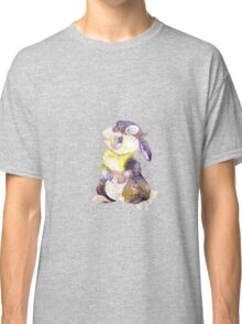 Thumper, Bunny And Butterfly, Watercolor Art Classic T-Shirt