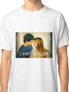I Want To Believe oil color painting Classic T-Shirt